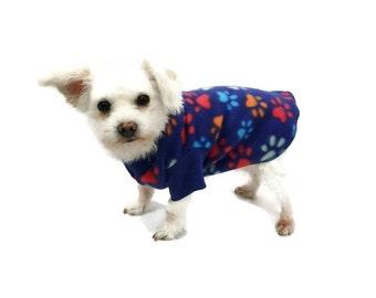 Royal Paw Print Fleece Dog Shirt-Fleece Dog Shirts-Dog Sweater-Dog Clothing-Dog Apparel-Pet Clothes-Shirts for Dogs-Sweaters for Dogs