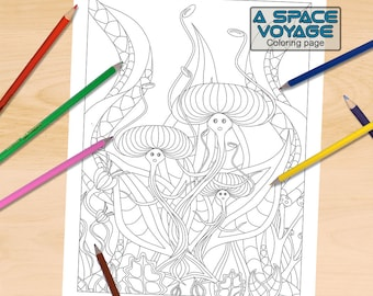 Dancing Plants Coloring Page