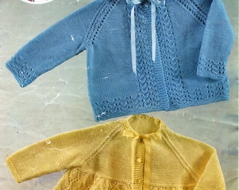 """vintage baby knitting pattern pdf download 3ply baby matinee coats matinee jackets cardigans 18-20"""" 3ply sock pdf Instant Download"""