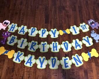 Puppy Dog Pals Birthday Banner
