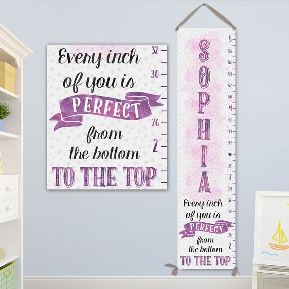 Girl Growth Chart - Personalized Toddler Gift Girl - Growth Chart, Growth Ruler, Height Chart, Growth Chart Girl - GC8000S