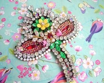 Fancy Flower - OOAK Brooch - Ready to ship x