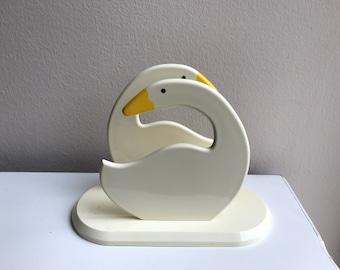 "Vintage Duck Napkin Holder - Plastic Duck Napkin Holder - 7"" x 5"""