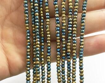 3*2mm Faceted Hematite Beads, Hematite Jewelry