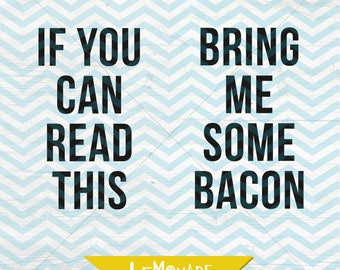 if you can read this bring me some bacon sock cut file quote socks