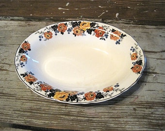 Cannonsburg Pottery Co Oval Serving Bowl