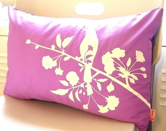 Limited Time Sale Lavender Blooming Blossom Rectangle Pillow