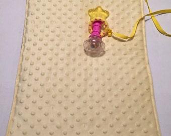 Yellow diaper changing pad