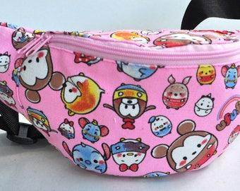 Fanny Pack  1 zipper kids party  ,bum bag,waist bag,belt bag,hip pouch,bags & purses festival bag , festival bag ,camping bag