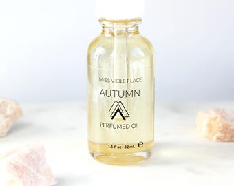 50% OFF Autumn Perfume Oil | Bonfire, Smoky Woods and Fall Leaves | Natural and vegan body oil