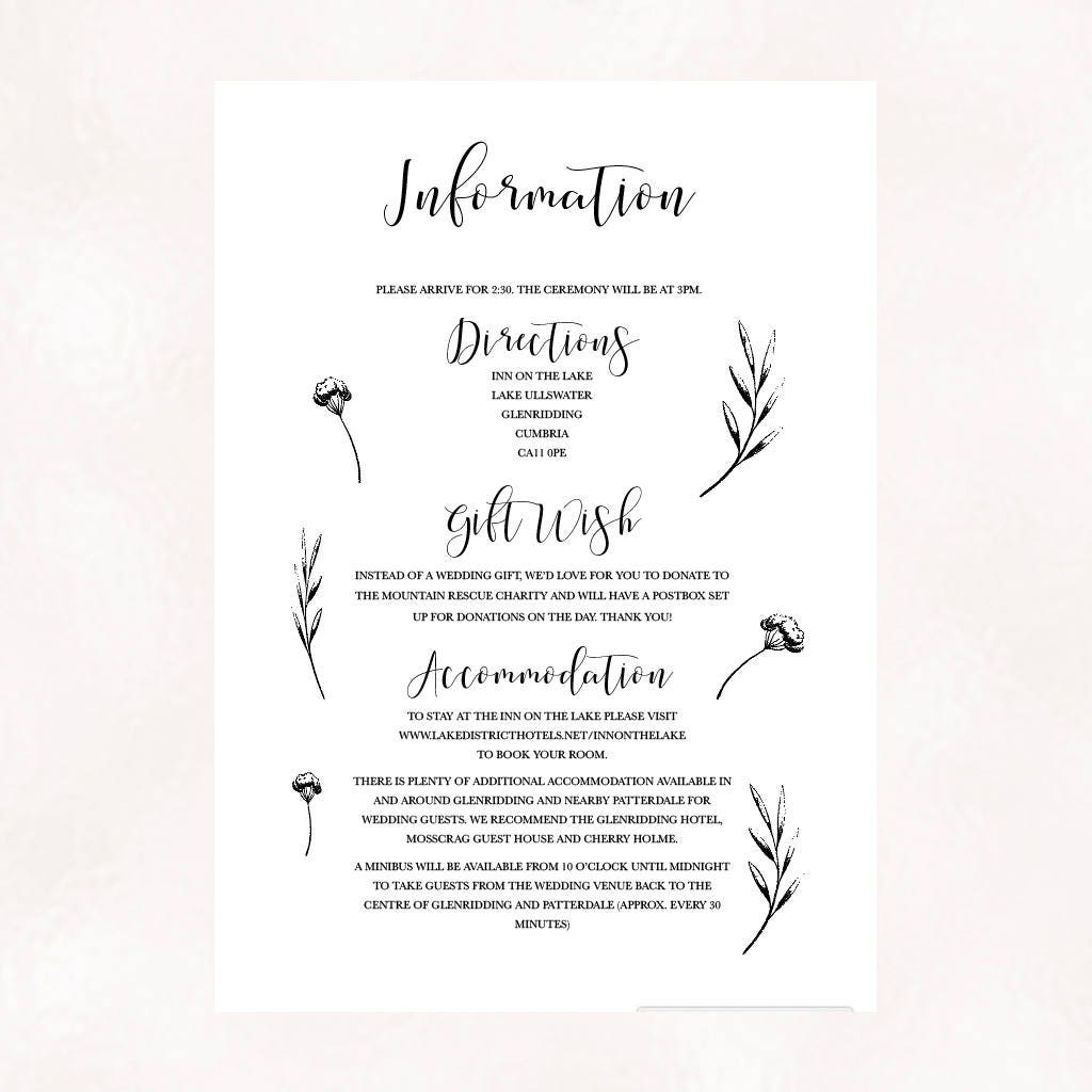Sweet nature - simple, personalised boho wedding invitations with ...