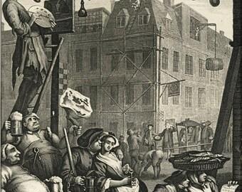 Poster, Many Sizes Available; Beer Street William Hogarthsamuel Davenport