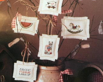Vintage For The Love Of Cross Stitch by Leisure Arts magazine -January 1989