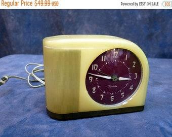 BTS Westclox Moonbeam Vintage Electric Alarm Clock 50's