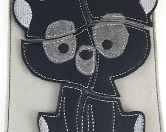 Felt puzzle, black bear puzzle, busy board, felt board