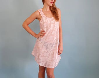 Pretty Semi Sheer Pale Pink Slip Dress