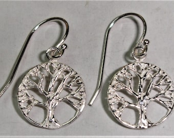 Tree life Earrings, sterling leg, 925