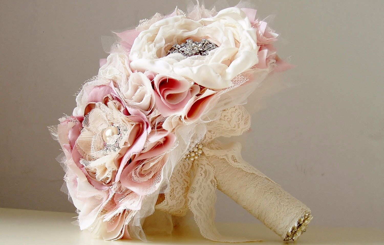 Wedding Brooch Bouquet Fabric Flower Bouquet Weddings