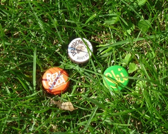 3 Pack Bottle Cap Geocache Containers with Logs