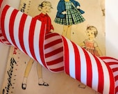 Red and White Striped Rib...