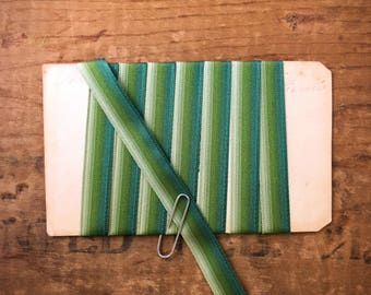 3/8 Inch Ombre Polyester Ribbon Trim In Teal, Moss, And Olive Green Tones (1yrd.) T33