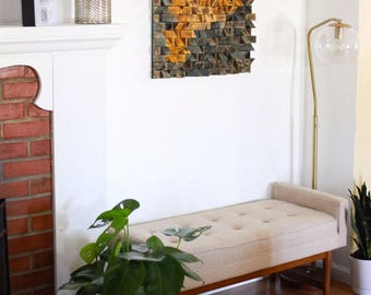 Mid Century Reclaimed Wood Wall Art