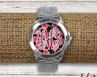 Monogrammed Floral Watch