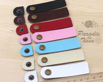 7 x leather clasp snap fasteners to sew bag