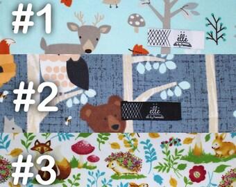"Woodland Animal Deer Owl Squirrel Fox Porcupine Extra Large Receiving Blanket - 36"" x 42"""