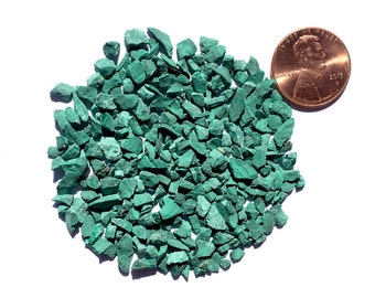 Crushed Malachite Stone Inlay, Coarse, 1/2 Ounce