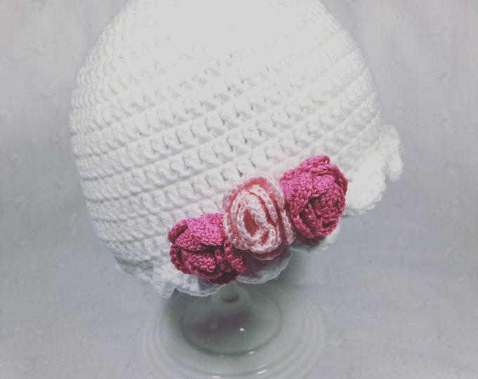 Flowered cloche Hat