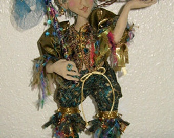 "Elton The Fairy Finder, 15"" cloth doll e-pattern"