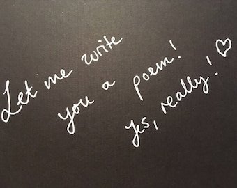 Let me write you a poem