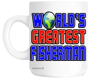 World's Greatest Fisherman Fishing Gift Mug shan553