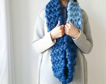 READY MADE Knit Scarf. Gift for her. Chunky Snood