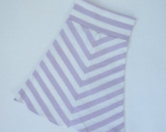 "18"" Doll Skirt - Purple & White Striped Maxi Skirt - American Made Girl Doll Clothes - 18 inch Doll clothes"