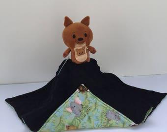 Ultra Plush and Snuggly Kangaroo Lovey Blanket