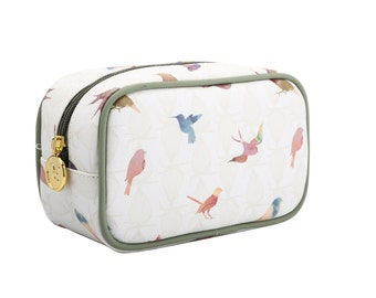 TaylorHe Make-up Bag Cosmetic Case Toiletry Bag Zipped Top Beautiful Birds.