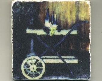 Wine Cart in Napa Valley - Original coaster
