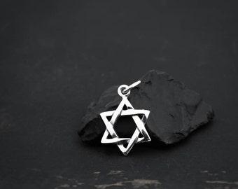Sterling Silver Star of David Charm, Star of David Jewelry, Magen David, Hanukkah Jewelry, Hanukkah Charm, Star of David Pendant