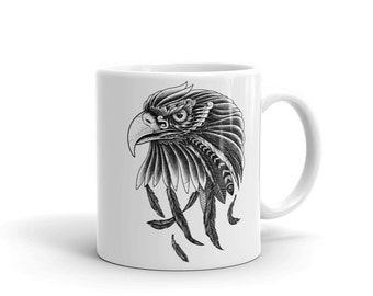 Eagle Mug, Print coffee mug
