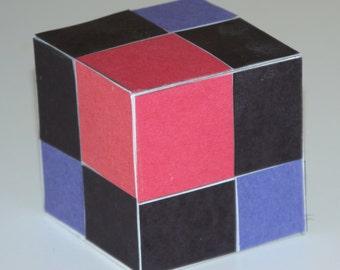 Binomial Paper Cube - Montessori Extension