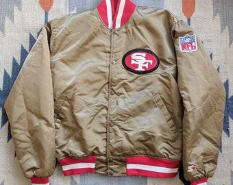 San Francisco 49ers Vintage Starter Jacket L Satin 80s Rare Niners NFL