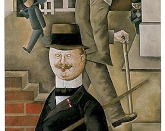 Grosz - Gray Day (1921) Art Canvas/Poster Print A3/A2/A1