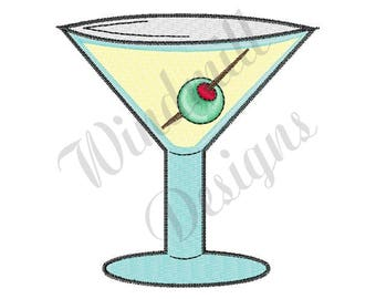 Martini - Machine Embroidery Design
