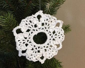 Crocheted Wreath Ornament