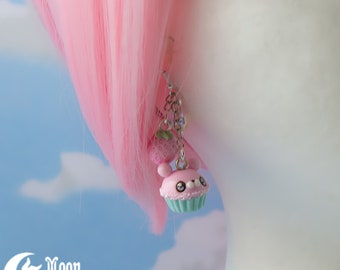 Pastell Kuchen Bär mix blau   Ohrringe   Sweet Lolita Mode   Candy   Niedliche Bären