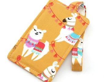 Orange Llama Luggage Tag Bag Tag Travel Accessories, Gift for Traveler - Fun Gift