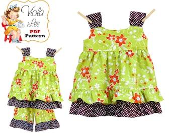 Girls Dress Pattern. Girls Top pdf Sewing Pattern, Girls Sewing Pattern. Toddler Dress Pattern. Toddler Sewing Pattern. pdf Patterns, Zoe