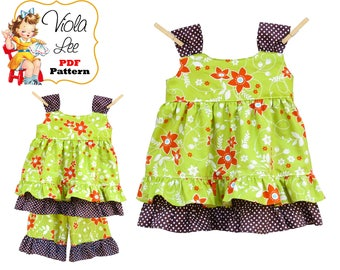Toddler Sewing Pattern, Girls Dress Patterns. Girls Top Pattern. Jumper Pattern. Girls Sewing Patterns. PDF Instant Download pdf, ebook Zoe